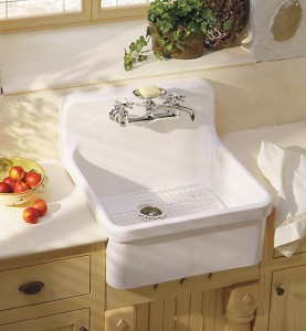 "The retro look is ""in"" for kitchen sinks, but not always in the original material. Exceptions include Kohler's Gilford sink in vitreous china."