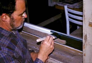 Painting window sash