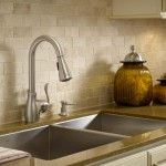 MOEN 'BOUTIQUE' pull-down faucet in spot-resistant stainless.