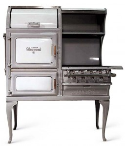 A ca. 1930 vintage Glenwood, safely refurbished by The Good Time Stove Company.