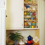 White shelving is the backdrop for a family collection of colorful Fiestaware. Photo: Jeremy Samuelson