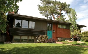 Many of the homes in Arapahoe Acres, like this bi-level design, are reminiscent of Frank Lloyd Wright's Usonian houses.