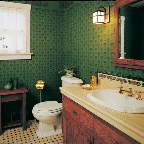 Modest arts crafts bungalow bathroom old house online for Arts crafts bathroom design