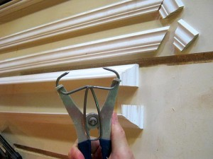 A set of basic spring clamps (with specialty pliers to help open them) will only set you back about $30—well worth the investment if you're creating complex molding profiles for an old house.