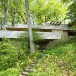 The naturalistic Modern house in the Wisconsin woods.