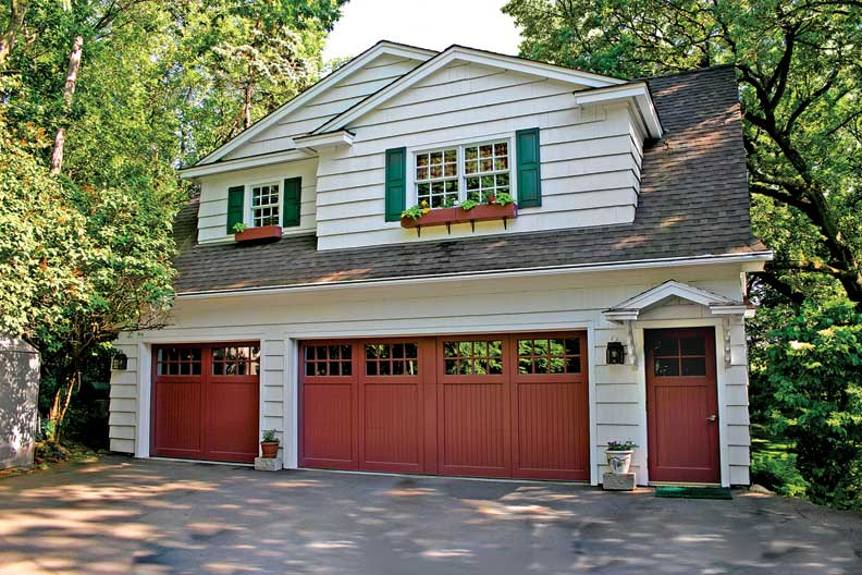 How to choose a garage door old house online old house for Garage door stain colors