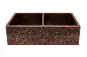 Hammered copper sink from Premier Copper Products