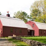 The new gambrel house and garage.