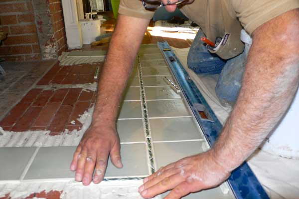 creating an art tile fireplace - old-house online