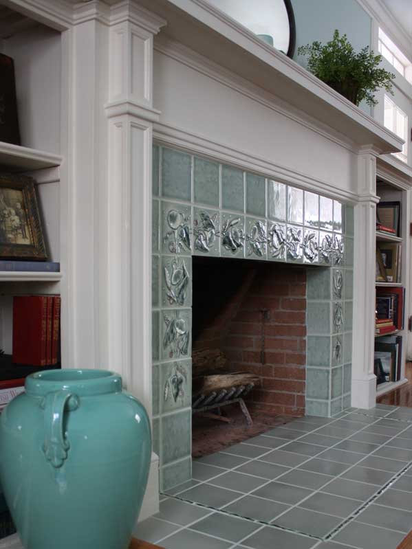 Creating an Art Tile Fireplace - Old-House Online - Old