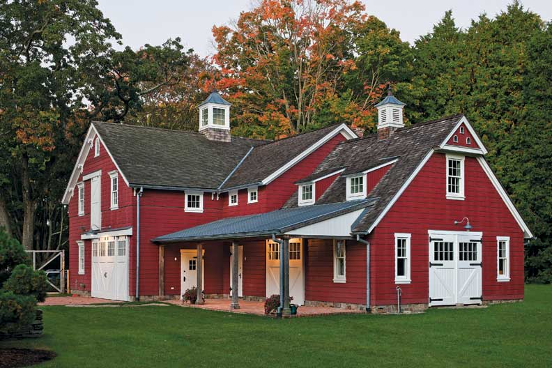 An elegant new england federal old house online old for Red barn houses