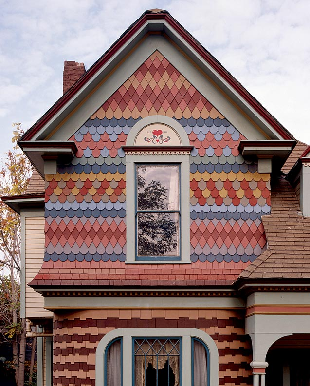 Decorative shingling ideas old house online old house for Architectural wood siding