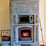 Soapstone Tulikivi stoves were added to the house for their aesthetic and radiant heat.