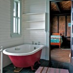 Bathrooms boast original clawfoot tubs and the latest composting toilets.
