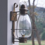 Onion lamps (lanterns that feature a round globe encased in wire) were a stalwart of colonial exteriors; Heritage Lanterns' teardrop version is based on the century-old lights used to illuminate the cobblestoned streets of Brooklyn.