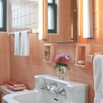 The bathroom, which never demanded change, is a space-efficient period piece.