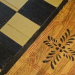 Floor stenciling has been popular since colonists used the technique to emulate parquet and carpets.