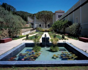 The Getty Villa in Malibu connects the indoors and out through courtyard gardens