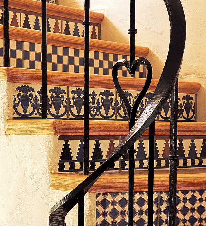 An authentic new spanish colonial old house online old for Spanish decorative tile