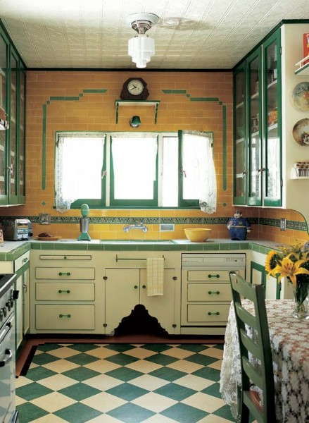 Kitchen Cabinet Interior Design: Photo Gallery: Checkerboard Kitchen Floors