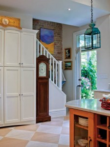 Built-in cupboards add ample storage space for the empty nesters.