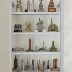 The homeowner, an architect, collects building models