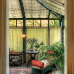 A conservatory, added off of the kitchen and breakfast room, contributes an upscale Victorian-era detail and brings more light into the house.
