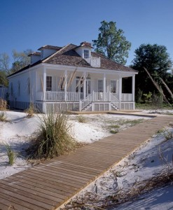 Relaxing on the porch is an official activity on the Gulf Coast, and the rockers are always ready outside this renovated 1870 home. From the porch, a boardwalk leads to the shrimp harbor and the Apalachicola River's outlet into the Gulf.