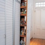 The kitchen's generous storage provision includes a pull-out pantry that's invisible when slid back into the wall.