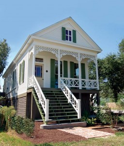 The Galveston Historical Foundation gave this 1890 Folk Victorian cottage a green makeover, blending high-tech products (solar panels, a wind turbine, heat-resistant window film) with preservation practices, earning a LEED platinum certification.