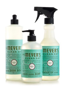 Natural cleaning lines—like Mrs. Meyer's—will keep your kitchen spic & span without the harmful chemicals. (And they smell better, too!)