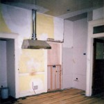 The corner that now holds the stove was an awkward dead-end before remodeling.