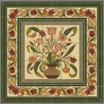 Aesthetic Movement panel and frame design from Designs in Tile.