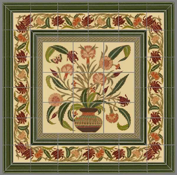 Art tile murals panels old house online old house online for Ceramic mural designs