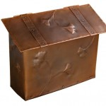 Gingko copper mailbox by Archive Designs