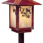 Evergreen landscape light with sycamore filigree by Arroyo Craftsman