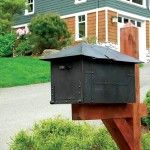 Copper post mailbox by Waterglass Studios