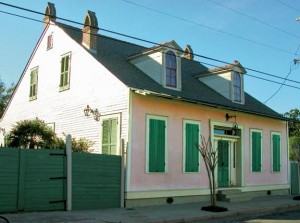 The French influence can be seen in this early 19th-century house in New Orleans' Faubourg Marigny neighborhood.