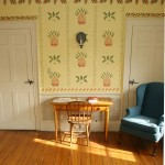 Suzanne Korn of Vintage New England Stenciling created a pineapple-themed room inspired by Moses Eaton, Jr. in the welcome center of the David Damon Tavern in North Reading, Massachusetts. Photo: Al Pereira, Advanced Photo