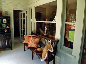 This Victorian-era sleeping porch was a highlight of the Vintage Home Tour in Corona, California.