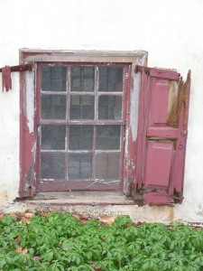Some old shutters fall into the category of romantic ruin, but most can be repaired and rehung.