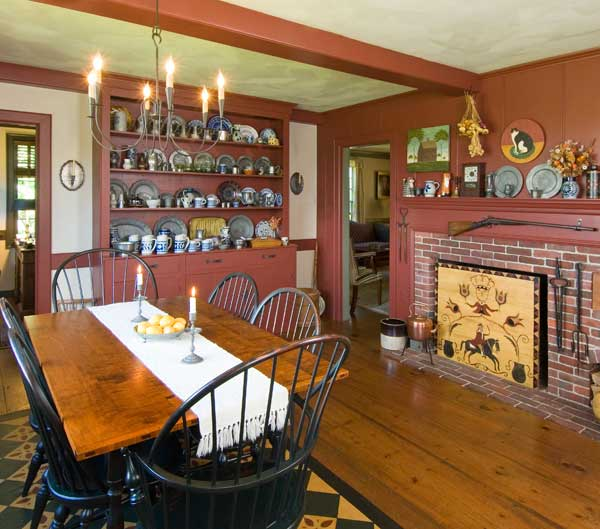Colonial Dining Rooms Center Hall Colonial Kitchen Room: Life In A Reproduction Saltbox