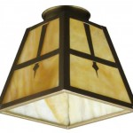 House of Antique Hardware makes this Arts & Crafts-style shade to customize their many fixtures.