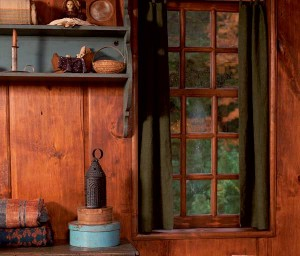 Authentic six-over-nine sash was custom-made for a ca. 1700 Saltbox house in Connecticut, which had earlier been remodeled.