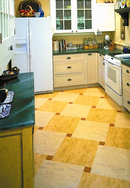 Ideas for kitchen floors linoleum tile more old for Linoleum flooring designs