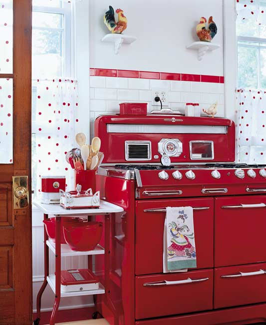 Contemporary Red Kitchen: Inspiration From Mid-Century Modern Kitchens