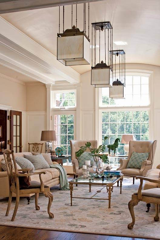 Artsy Living Room: English Arts & Crafts Details On A New House