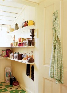Even farmhouses had pantries, if only a few shelves in a cool corner of the house. Photo: Gross & Daley