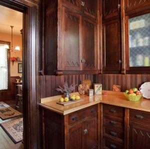 A new Victorian pantry, modeled after urban originals. Photo: Philip Clayton–Thompson.