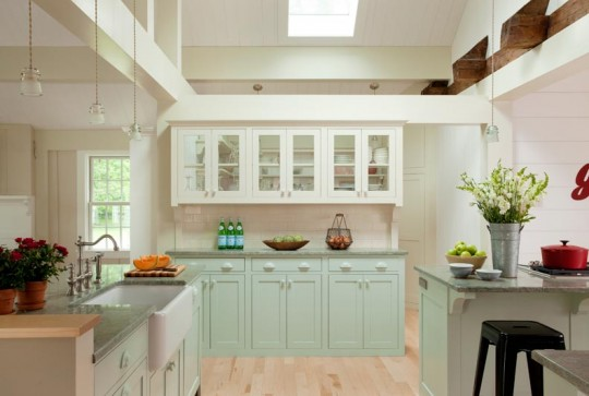 A light filled kitchen remodel old house online old for Kitchen cabinets vermont